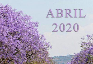 Cartel de inicio del mes de abril