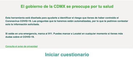 Cuestionario del Gobierno de la Ciudad de México sobre el covid-19