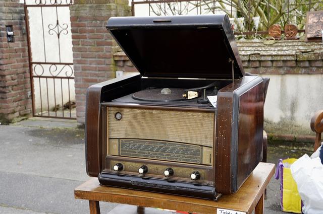 Equipo de audio antiguo.