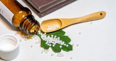 Frasco de medicamento homeopático