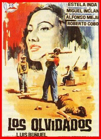 Cartel de la película Los olvidados de Luis Buñuel.